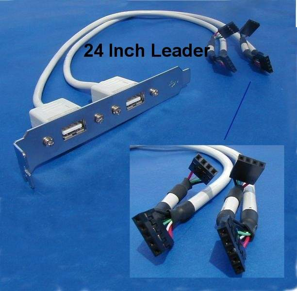 USB PORT DUAL to MAINBOARD PORT Universal 24in