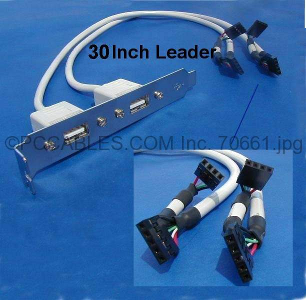 USB PORT DUAL to MAINBOARD PORT Universal 30in