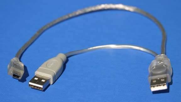 USB PORTABLE HARD DRIVE Encloser Cable A-Male A-Male to Mini-B-Male