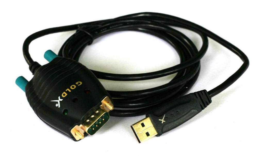 USB to DB9-Male Serial Port Converter 6FT GoldX Windows 10 GXMU-1200