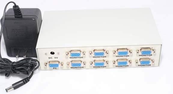 VGA Amplifier 8 Monitors Powered 400MHZ