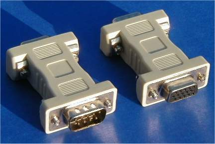 VGA-EGA MONITOR ADAPTER MULTISYNC HD15-F TO CARD DB9-M