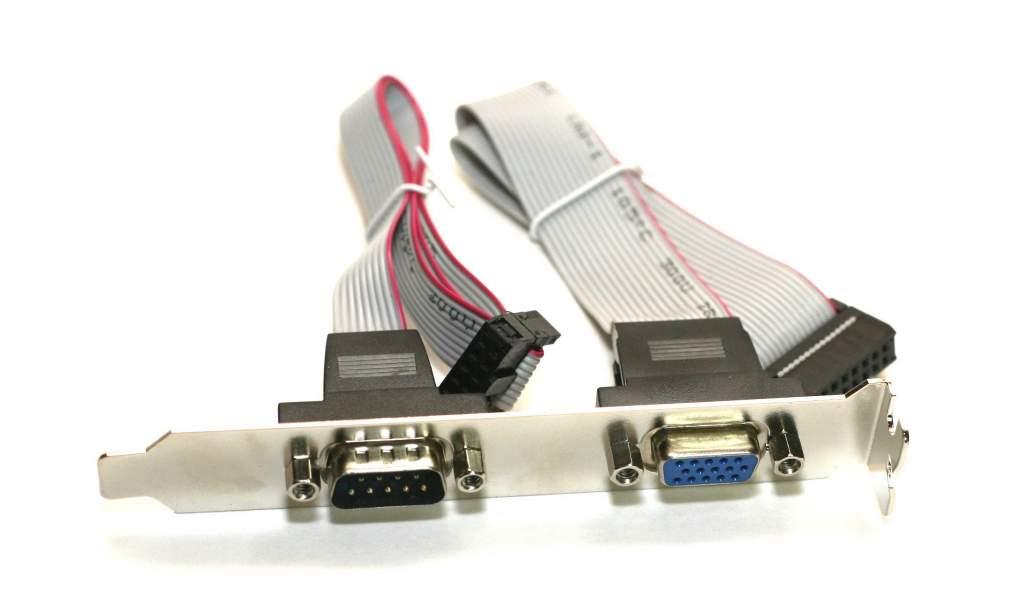 VGA Port Serial Port on Bracket HD15-F DB9-M