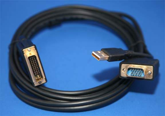 VGA USB to M1-DA EVC-34 Cable 6FT