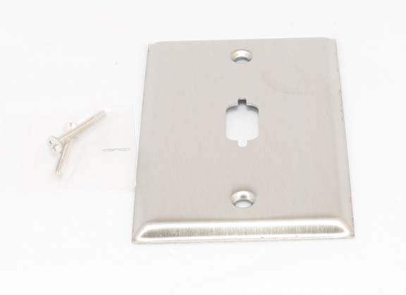 VGA WALL PLATE DB9 or HD15 1-HOLE STAINLESS